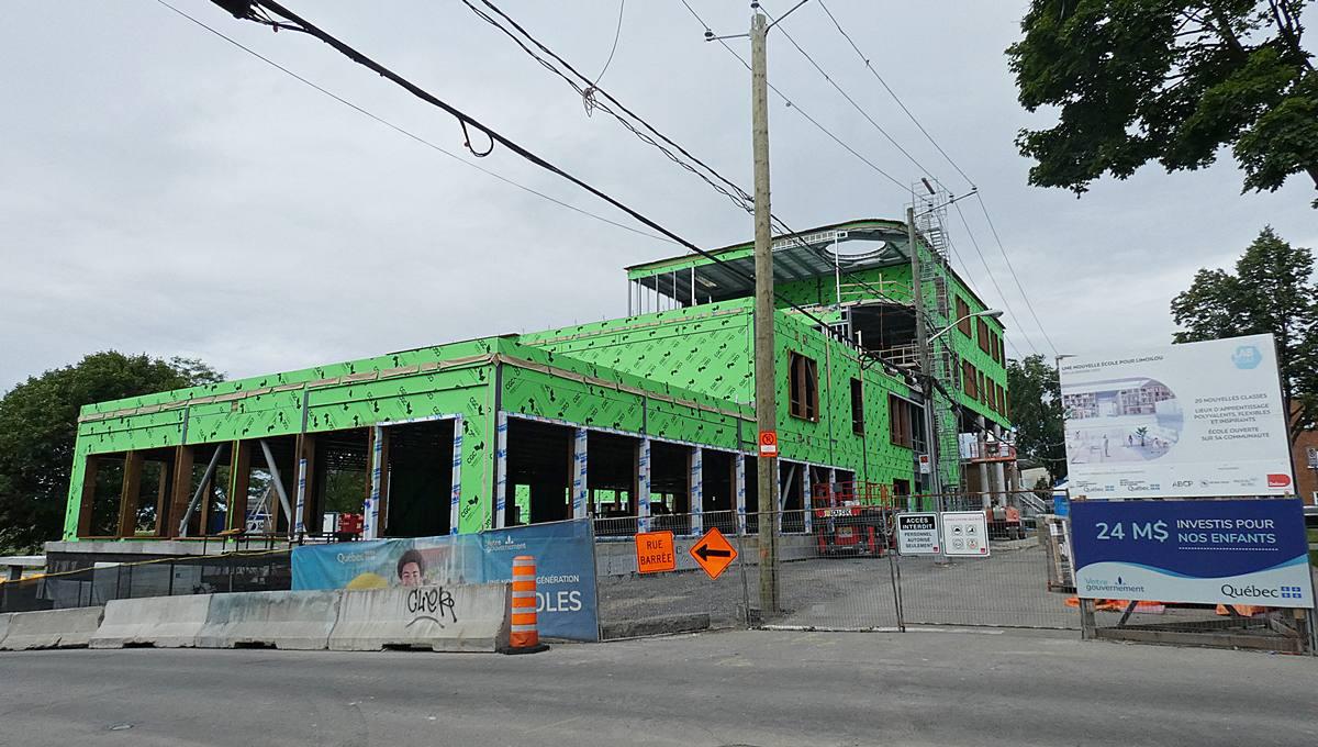 Le Lab-École Québec. État des travaux au 4 juillet 2021.