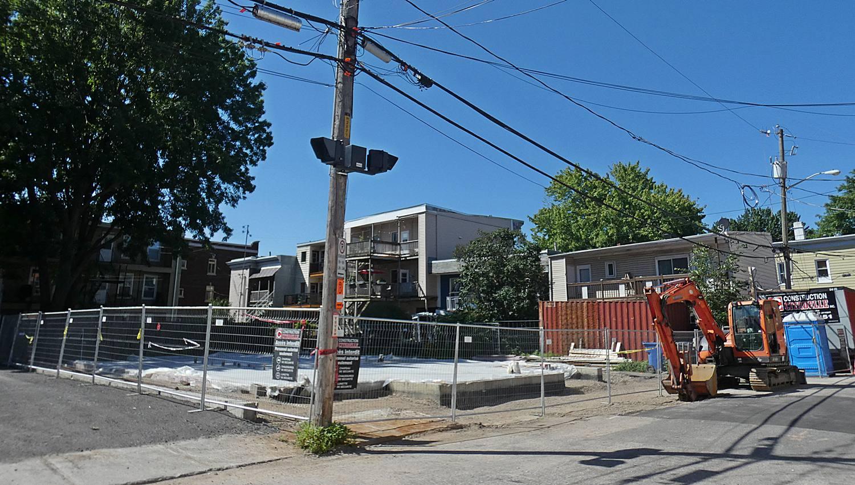 Un Toit en réserve. État des travaux de l'immeuble de la rue J.-A. Cauchon au 5 juillet 2021.