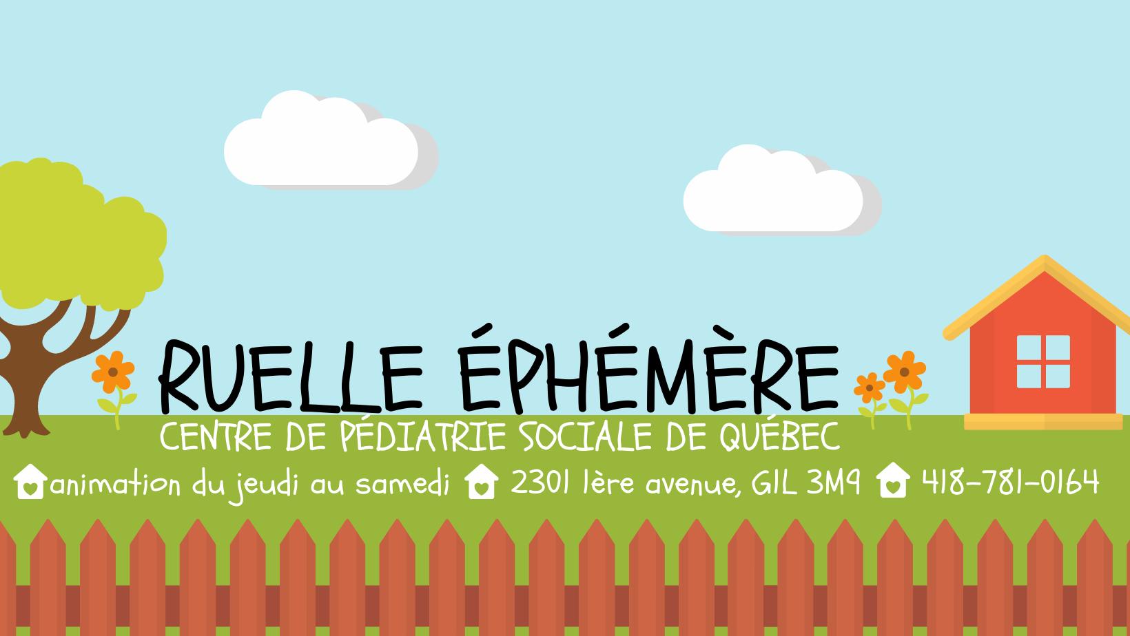 La Ruelle éphémère du Centre de pédiatrie sociale de Québec