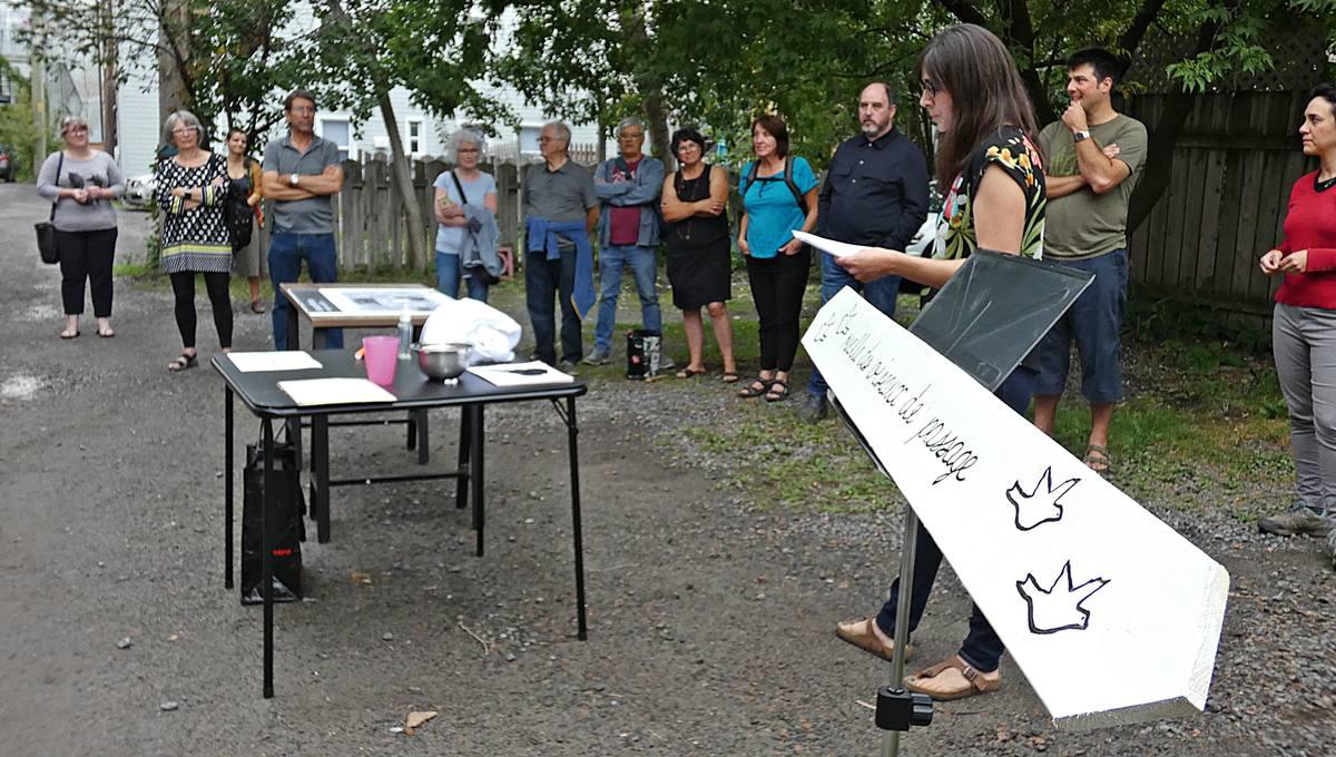Les résidents présentent leur projet pour la ruelle des Oiseaux de passage