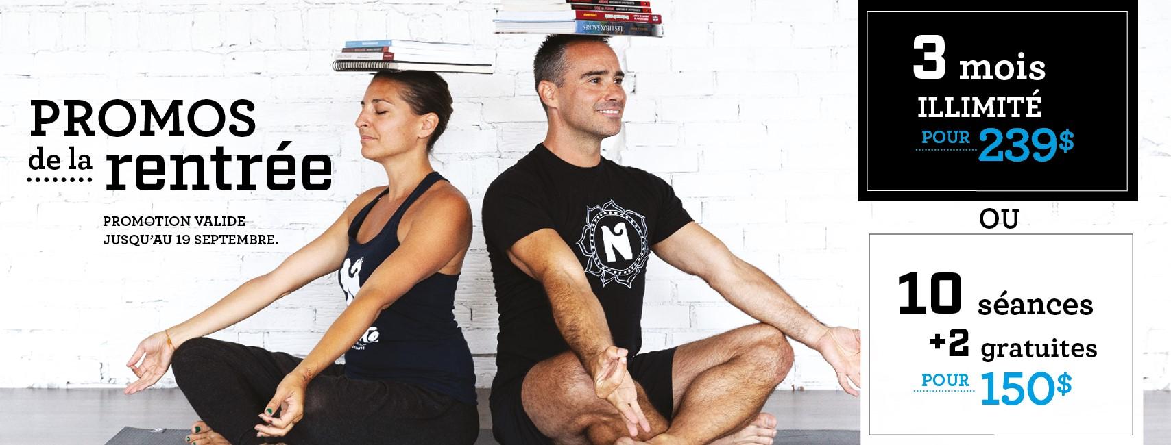 Promos de la rentrée 2021 | Namaste Yoga Limoilou