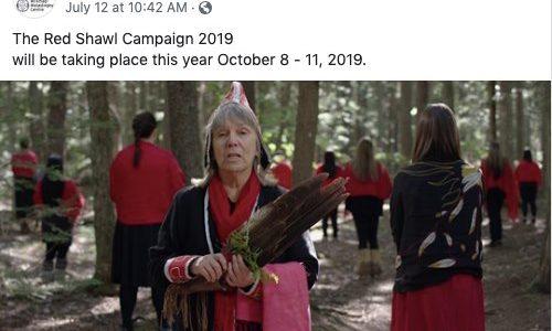 Tricollectif pour la campagne des châles rouges