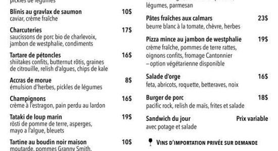 Livraison et take-out   Fin Gourmet
