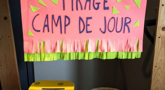 Tirage au sort, inscription du camp de jour de la Joujou!