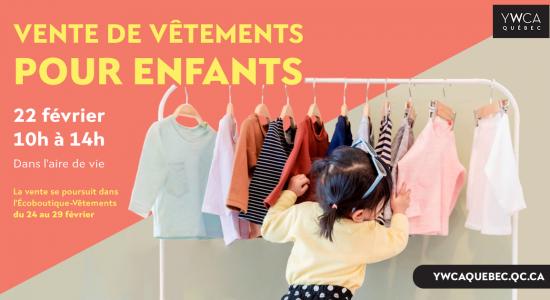 Vente de vêtements pour enfants
