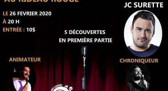 JC Surette au Rideau Rouge