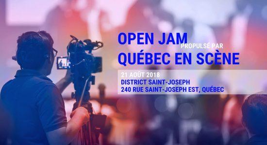 Open Jam propulsé par Québec En Scène