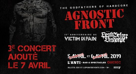 Agnostic Front avec Death Before Dishonor
