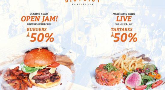 Nouvelle promotion estivale sur burgers et tartares | District Saint-Joseph