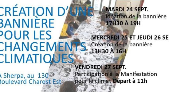 Création d'une bannière pour le climat